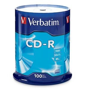 CD-R 80MIN 700MB 52X Branded 100pk Spindle