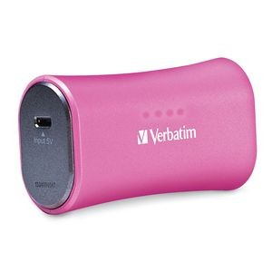 Portable Power Pack Charger (2200mAH) USB, Pink USB, Pink