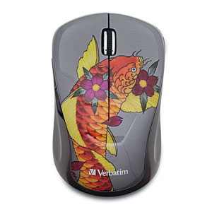 Wireless Notebook Multi-Trac Blue LED MouseKoi